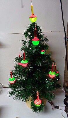 FAB - Old Late 1950's Noma 11 Light C-7 Christmas Bubble Light Tree