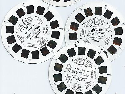 WOODY WOODPECKER Show View-master Reel Set 1011 Andy Panda CHILLY WILLY