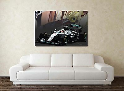 LIMITED EDITION (# 2 of 50) Lewis Hamilton 30x20 Inch Canvas Painting Picture
