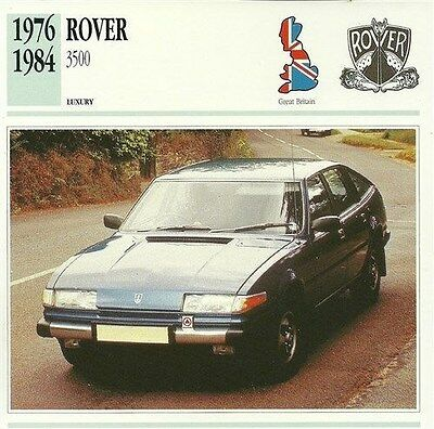 CLASSIC Cars Fact & photo reprint picture card ROVER 3500 Luxury British car UK