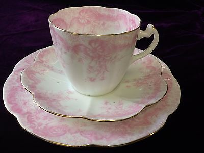 FOLEY  CUP & SAUCER - SIDE PLATE TRIO Rd 276279