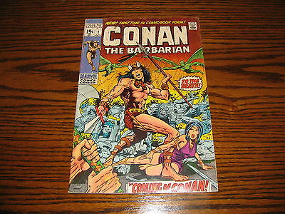 Marvel - CONAN THE BARBARIAN #1 Issue!! Glossy VG+  1970