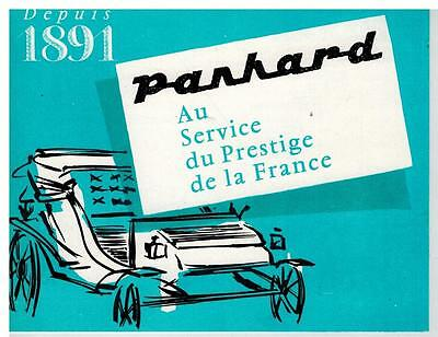 Panhard Pl17  Petit Catalogue 2 Pages 1961 Format 13.5 X 10.5 France