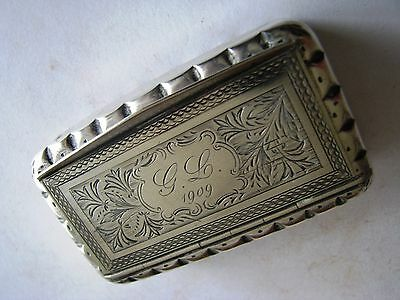 French solid silver snuff box
