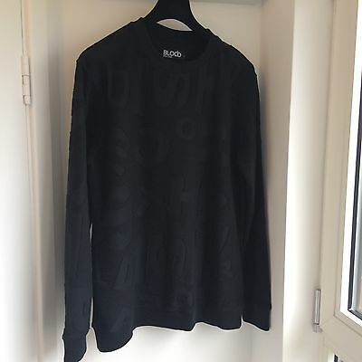 Men's Black Blood Brother Sweater Top Size Large Cost £169