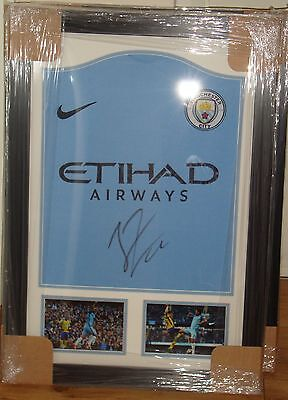 Framed Nolito Hand Signed Manchester City Shirt With Photo Proof