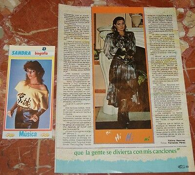 Sandra Lauer Cretu Biography Fact Sheet Super Pop 1985+ Clipping Rare