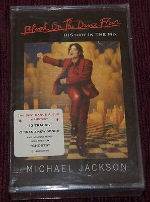 Michael Jackson Blood On The Dance Cassette K7 Spanish Edition Factory Sealed