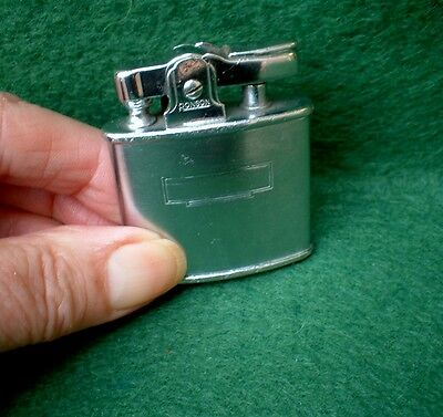 Vintage Ronson Standard Petrol Lighter In Satin Chrome