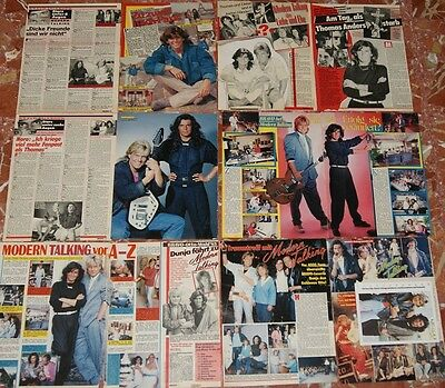 Modern Talking German Poster+Clippings+Autogramkarte,etc Big Lot 80,s