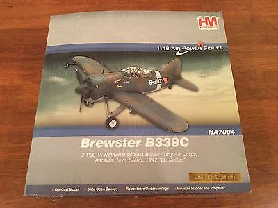 Hobby Master Die-cast BREWSTER B339C Plane. Scale 1:48 Limited Edition. RARE