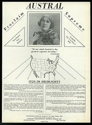 1930 Florence Austral photo opera recital trade booking ad