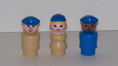 1984 #678 Airport Crew 3 HTF Little People by Fisher Price