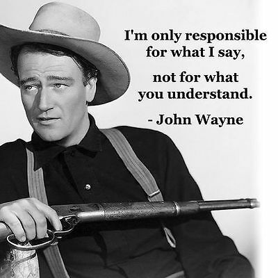 John Wayne Responsible Quote  Refrigerator / Tool  Box  Magnet Man Cave Room