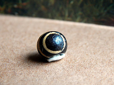 Ancient Pumtek Pyu Bead '' Ghost Eye '' Pattern 9Mm