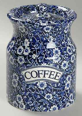 Staffordshire CALICO BLUE (BURLEIGH STAMP) Coffee Canister 1226579