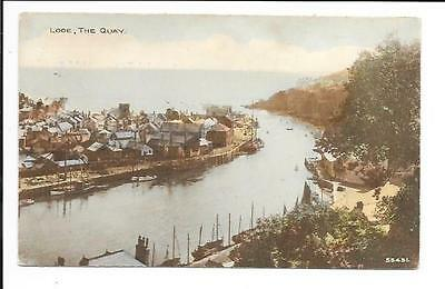 Old postcard: Cornwall: 'Looe, The Quay'. Posted 1929.