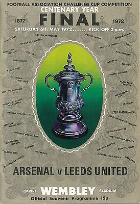 FA CUP FINAL PROGRAMME 1972: Arsenal v Leeds United