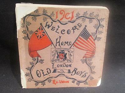 Welcome Home London Old Boys 1901 Reunion Booklet