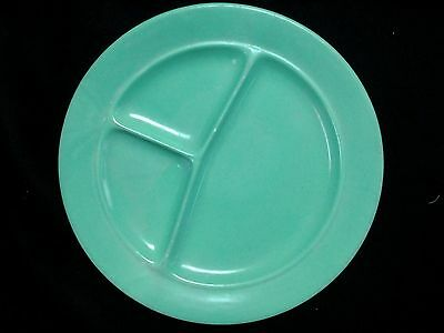 Shenango Potteries Co. Gala Brand Divided Plate Green Heavy