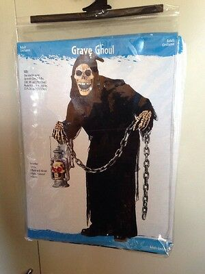 Adult Halloween Mask & Costume Grave Ghoul New In Package