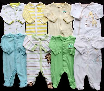 Baby Boy Girl Gender Neutral Newborn 0/3 3 Months Sleepers Pajamas Clothes Lot