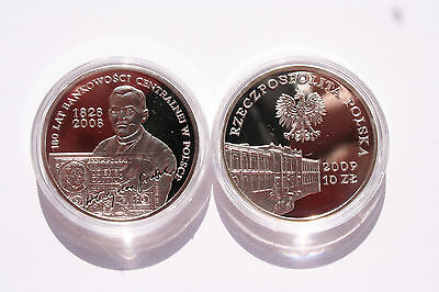 Poland 10 PLN 2009 Silver Proof Central Banking in Poland