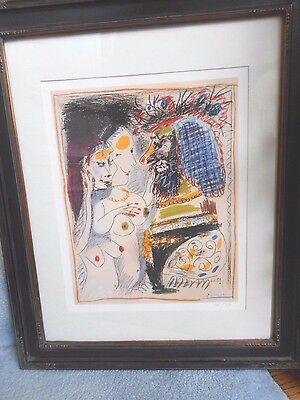 Limited Edition Fine Art Registry Picasso Old King Giclee Print & COA Nudes