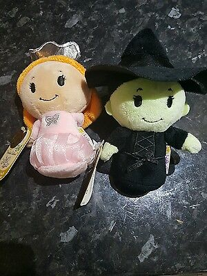 2 x brand new limited edition itty bittys Glinda good witch wicked witch West