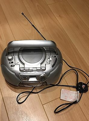 Multifunction 4-in1 Pacific Compact Stereo Radio FM-CD Player Cassette Recorder