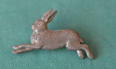 Hare Coursing Metal Badge Signed Brown