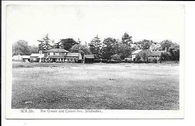 Old postcard, Hampshire: 'The Green and Crown Inn, Silchester'. 'Real photo'.