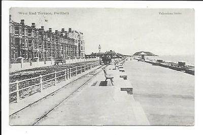 Old postcard, Wales: 'West End Terace, Pwllheli'. Posted 1904.