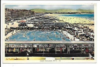 Old postcard, Wales: 'From Pavilion, Rhyl'. Posted 1958.