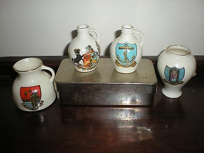 Collection of 4 items of Goss Crested China - Varied crests
