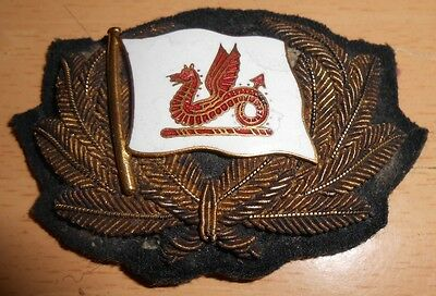 Original Unknown Officers Cap Badge Merchant Navy Shipping Line