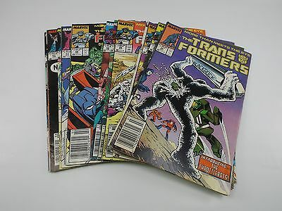 Lot of Vintage MARVEL The TRANSFORMERS Comics