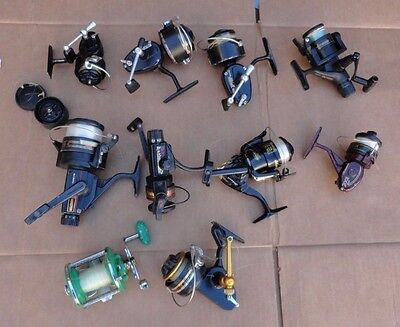 Lot Of 10 Brand Names Fishing Spinning Wheels (Penn, Garcia, Garcia Mitchell)