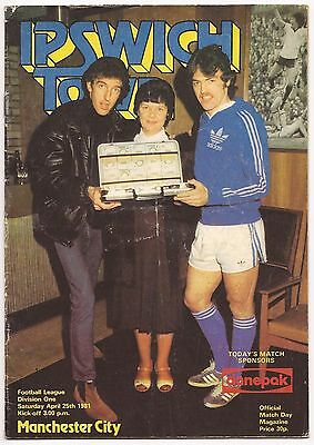 Ipswich Town v Manchester City 80/81