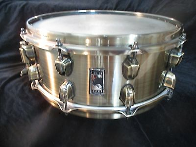 Mapex Black Panther Brass Cat 14 x 5.5 Snare Drum, 10 Lugs, Brass Shell, Clean!