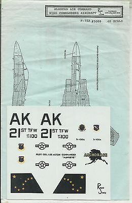 Repliscale Decals 48-5008 F-15A Eagle decals in 1:48 Scale