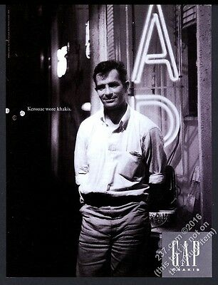 1993 Jack Kerouac photo The Gap fashion clothes store vintage print ad