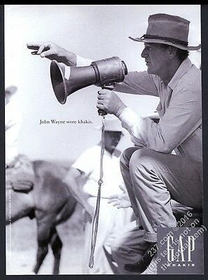 1994 John Wayne photo The Gap fashion clothes store vintage print ad