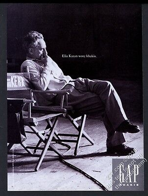 1994 Elia Kazan photo The Gap fashion clothes store vintage print ad