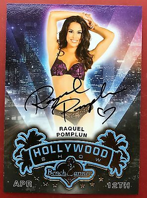 Raquel Pomplun 2014 Bench Warmer Hollywood Show Autograph