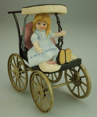 Vintage Dolls House Pram. Pretty Miniature Baby Carriage VA183
