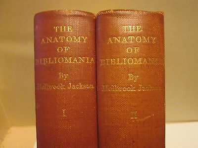 'Anatomy of Bibliomania' by Holbrook Johnson -- 1930 first edition, two volumes