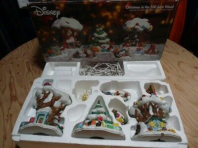 Disney Christmas in the 100 Acre Wood Lighted Village Set