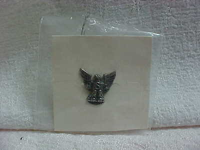 1980s EAGLE SCOUT STERLING SILVER PIN ON ORIGINAL PRESENTATION CARD