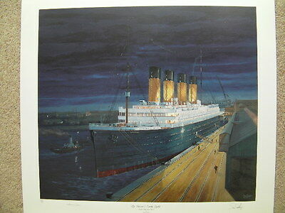 Rare Limited Edition Titanic Print By Simon Fisher, Signed By Millvina Dean,